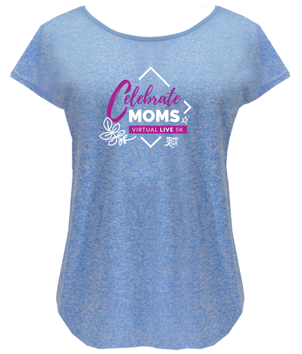 Moms on the Run Mother's Day 5k add-on item race shirt