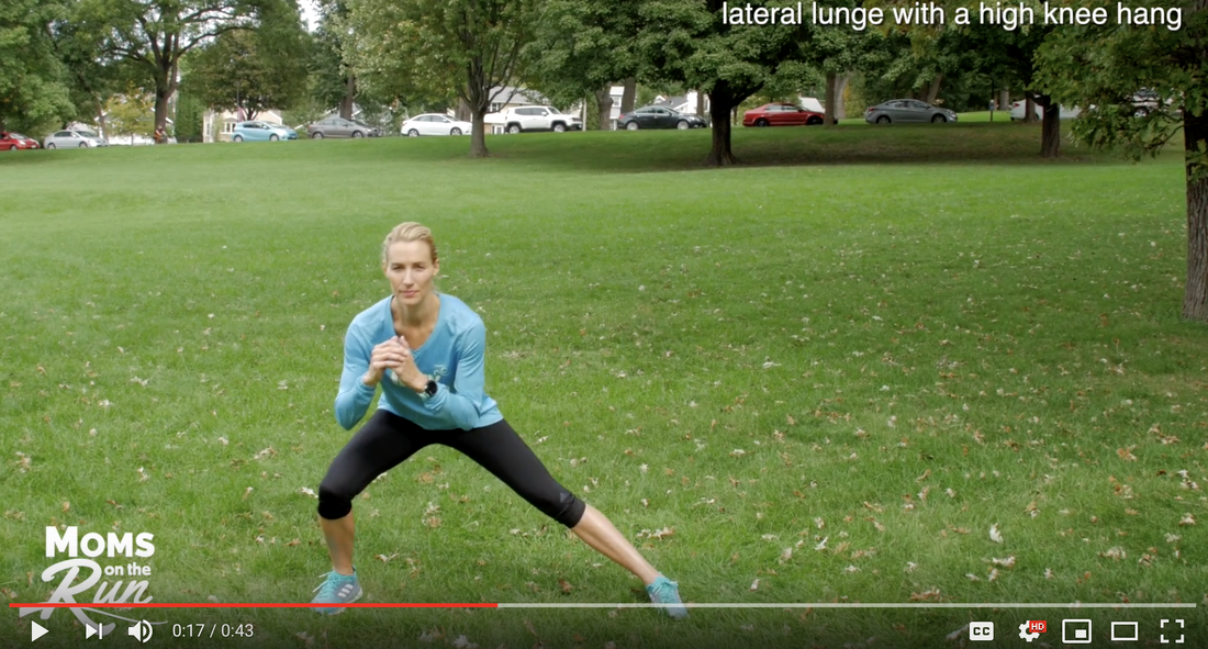 Training tip with Moms on the Run: Lateral Lunge