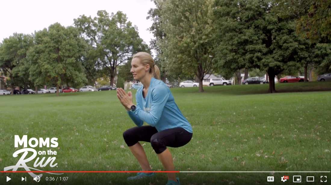 Training tip with Moms on the Run and Carrie Tollefson